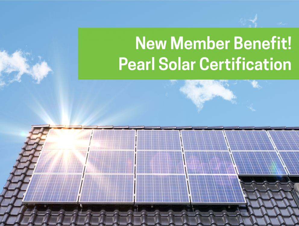 new member benefit- pearl solar certification